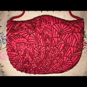 Vintage beaded red purse.